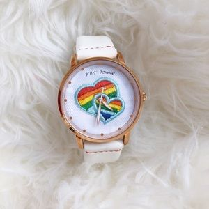 Betsy Johnson Rainbow Hearts Watch